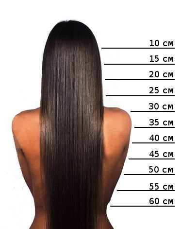 Длина 60 см волосы